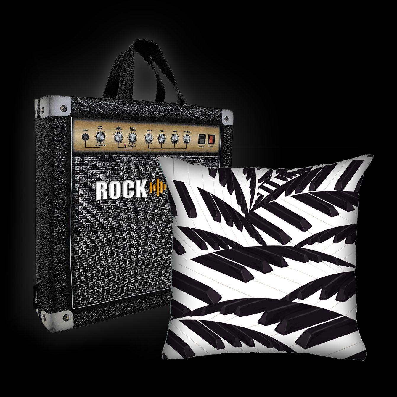 Kit Almofada & Sacola Rock Use - Teclado Tropical 2