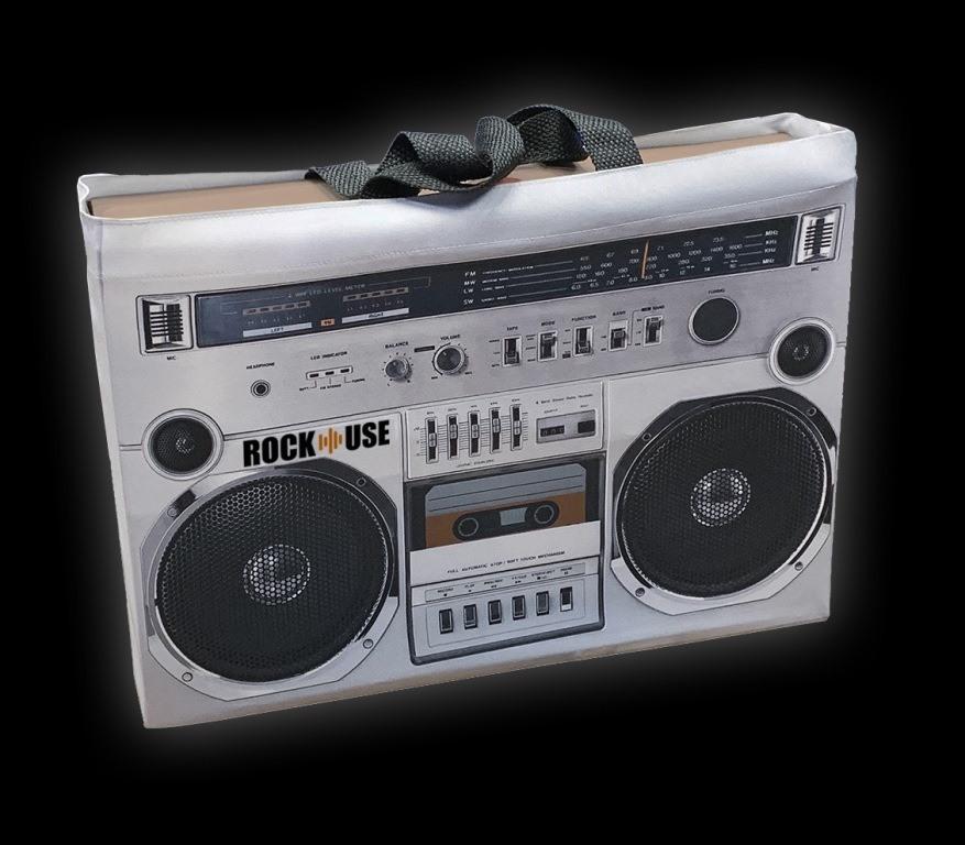 Sacola Rock Use - Fita Cassete