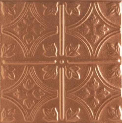"""3/4 in x 2 ft x 2 ft Armstrong TinCraft 15/16 in """"Squares"""" Flush Tegular Panel / Copper - 8008CP"""