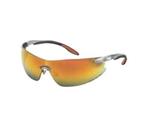 Honeywell Harley-Davidson HD800 Series Safety Glasses - Silver Frame/Orange Mirror Lens