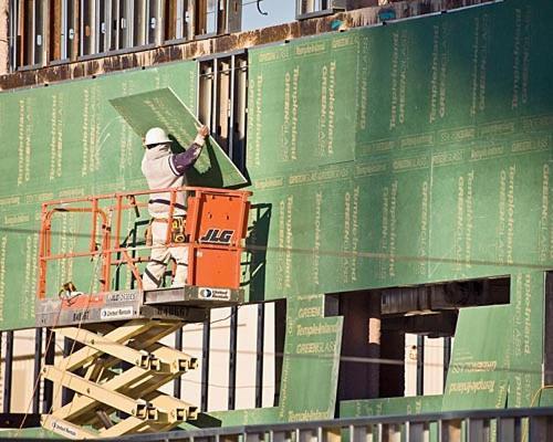5/8 in x 4 ft x 8 ft Temple-Inland GreenGlass Fiberglass-Faced Sheathing