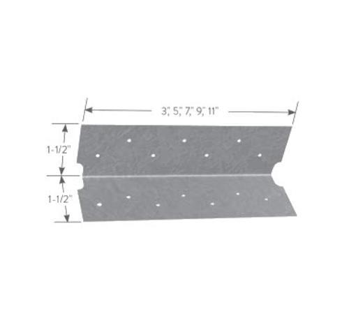 1 1/2 in x 1 1/2 in x 11 in x 14 Gauge 68 mil ClarkDietrich EasyClip S-Series Support Clip