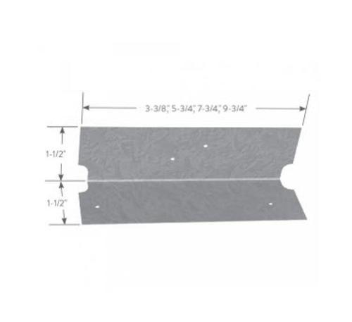 1 1/2 in x 1 1/2 in x 3 3/8 in x 16 Gauge 54 mil ClarkDietrich EasyClip U-Series Clip Angle