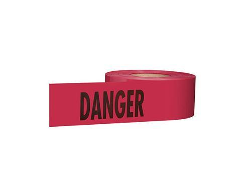 3 in x 1000 ft Empire Level Premium Danger Barricade Tape - Red