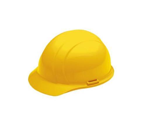ERB Americana Cap Style Hard Hat w/ Accessory Slots & 4-Point Slide-Lock Suspension - Yellow
