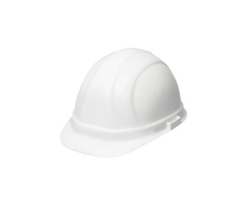 ERB Omega II Cap Style Hard Hat w/ Accessory Slots & 6-Point Mega Ratchet Suspension - White