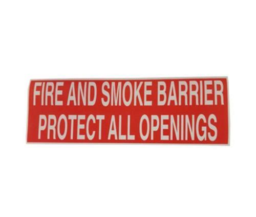 Fire & Smoke Barrier Warning Label