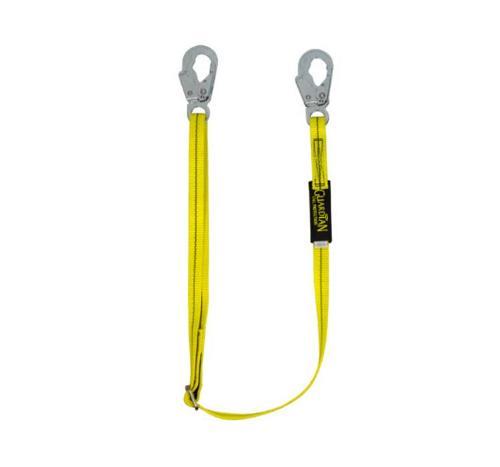 4 ft - 6 ft Guardian Fall Protection Single Leg Non-Shock Absorbing Adjustable Lanyard