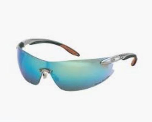 Honeywell Harley-Davidson HD800 Series Safety Glasses - Silver Frame/Blue Mirror Lens