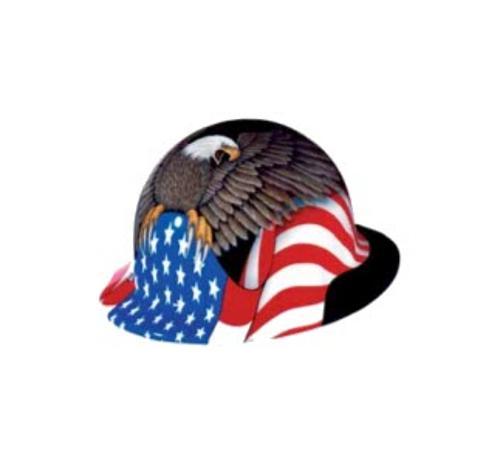 Honeywell Fibre-Metal SuperEight Full Graphic Spirit of America Full Brim Hard Hat