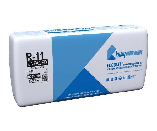 R11 3 1/2 in x 24 in x 96 in Knauf EcoBatt Unfaced Insulation
