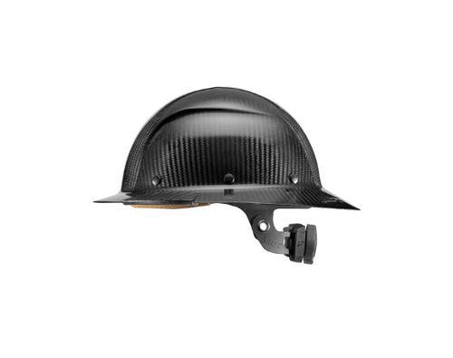 LIFT Safety DAX Carbon Fiber Full Brim Hard Hat - Gloss Black