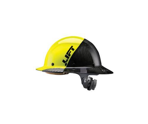LIFT Safety DAX FIFTY50 Carbon Fiber Full Brim Hard Hat - Yellow/Black