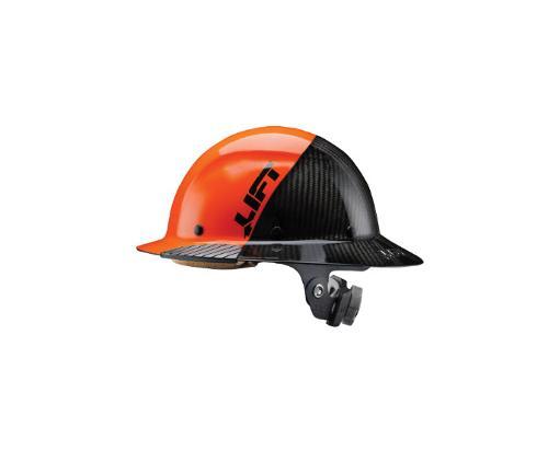 LIFT Safety DAX FIFTY50 Carbon Fiber Full Brim Hard Hat - Orange/Black