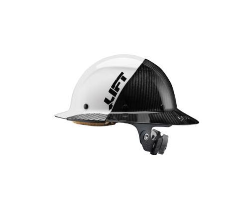 LIFT Safety DAX FIFTY50 Carbon Fiber Full Brim Hard Hat - White/Black