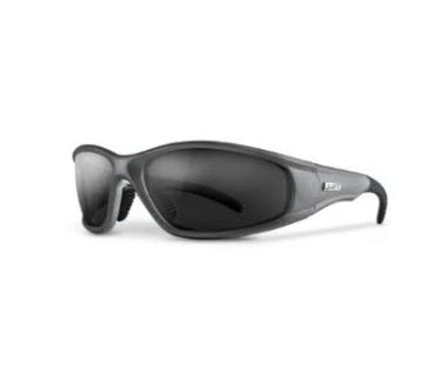 LIFT Safety Strobe Safety Glasses - Silver Frame/Smoke Lens