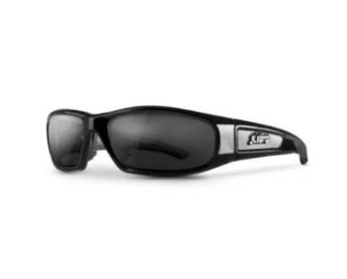 LIFT Safety Switch Safety Glasses - Black Frame/Smoke Lens
