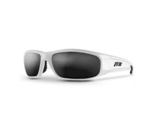 LIFT Safety Switch Safety Glasses - White Frame/Smoke Lens