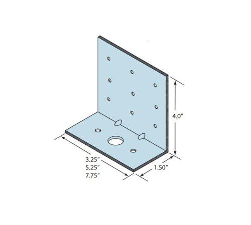 1 1/2 in x 4 in x 5 1/4 in x 12 Gauge 97 mil Marino\WARE Rigid Clip Connector