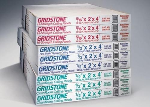 1/2 in x 2 ft x 4 ft National Gypsum Gold Bond BRAND Gridstone Brand Fire-Shield Gypsum Ceiling Panel - GB5045