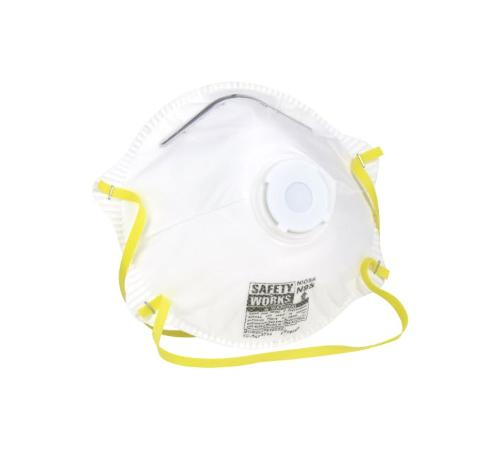 PIP Safety Works N95 Harmful Dust Disposable Respirator w/ Exhalation Valve - 10 Pack