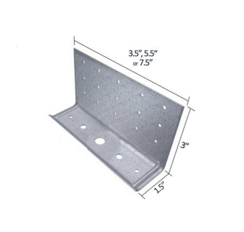 1 1/2 in x 3 in x 3 1/2 in x 10 Gauge 118 mil TSN StiffClip CL Series Clip