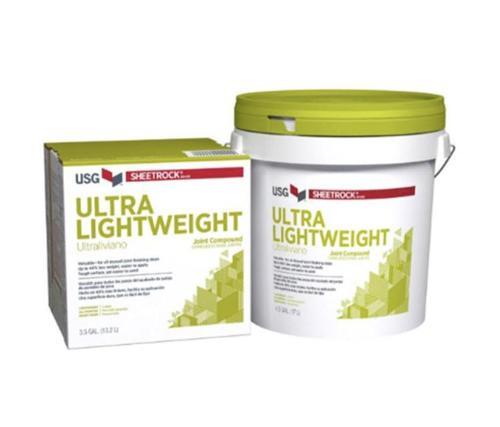 USG Sheetrock Brand UltraLightweight Joint Compound - 4.5 Gallon Pail