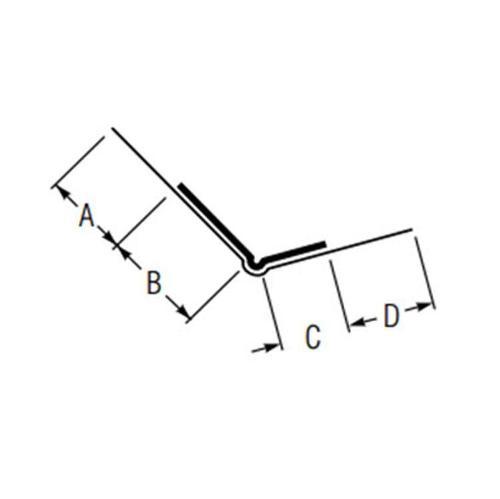 10 ft USG Beadex Paper Faced Metal Offset Outside Corner Tape-On Bead