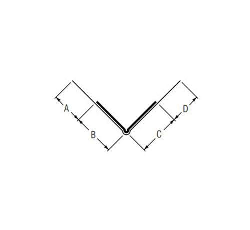 10 ft USG Beadex Paper Faced Metal Outside Corner Tape-On Micro Bead