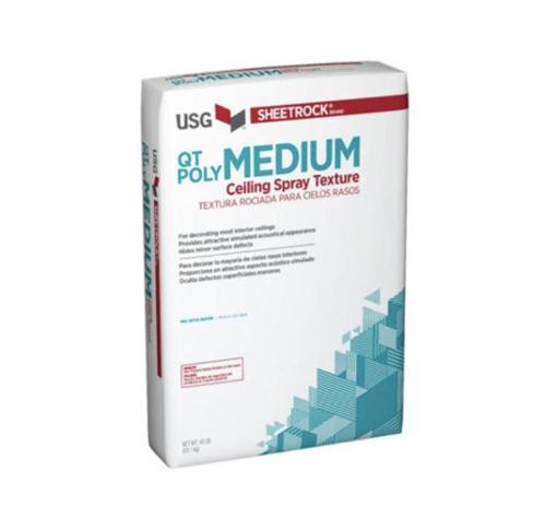 USG Sheetrock Brand QT Poly Ceiling Spray Texture / Medium - 40 lb Bag