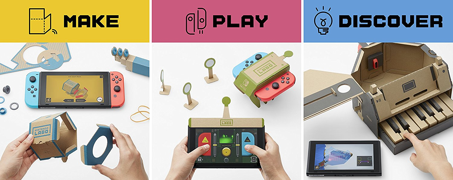 Nintendo introduces Labo, DIY interactive cardboard toys for the Switch