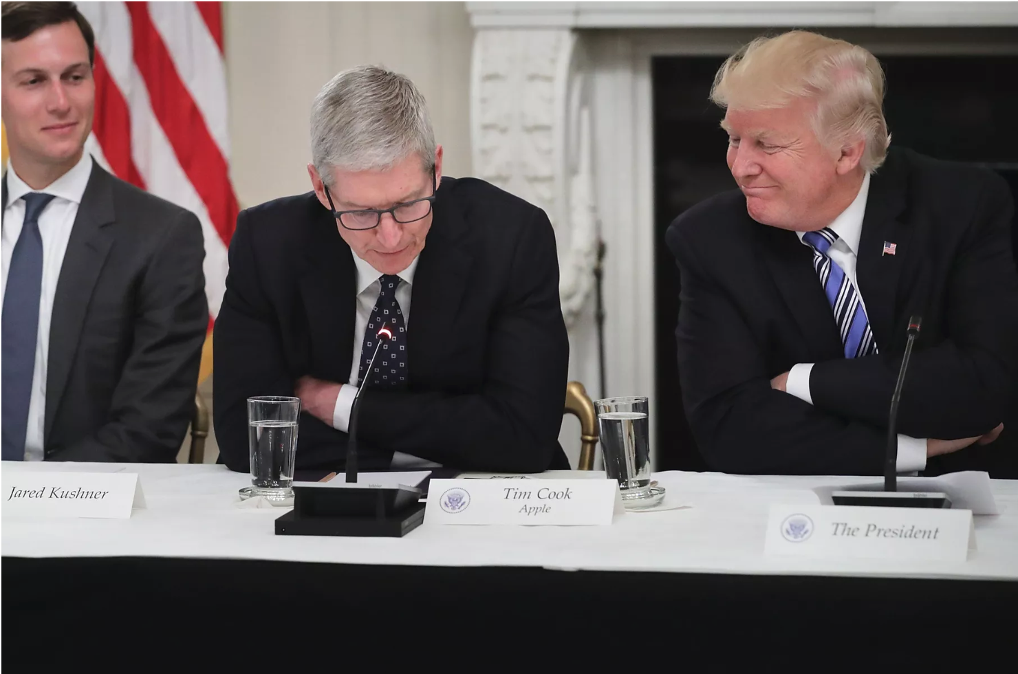 Trump accidentally called Tim Cook Tim Apple because why not?