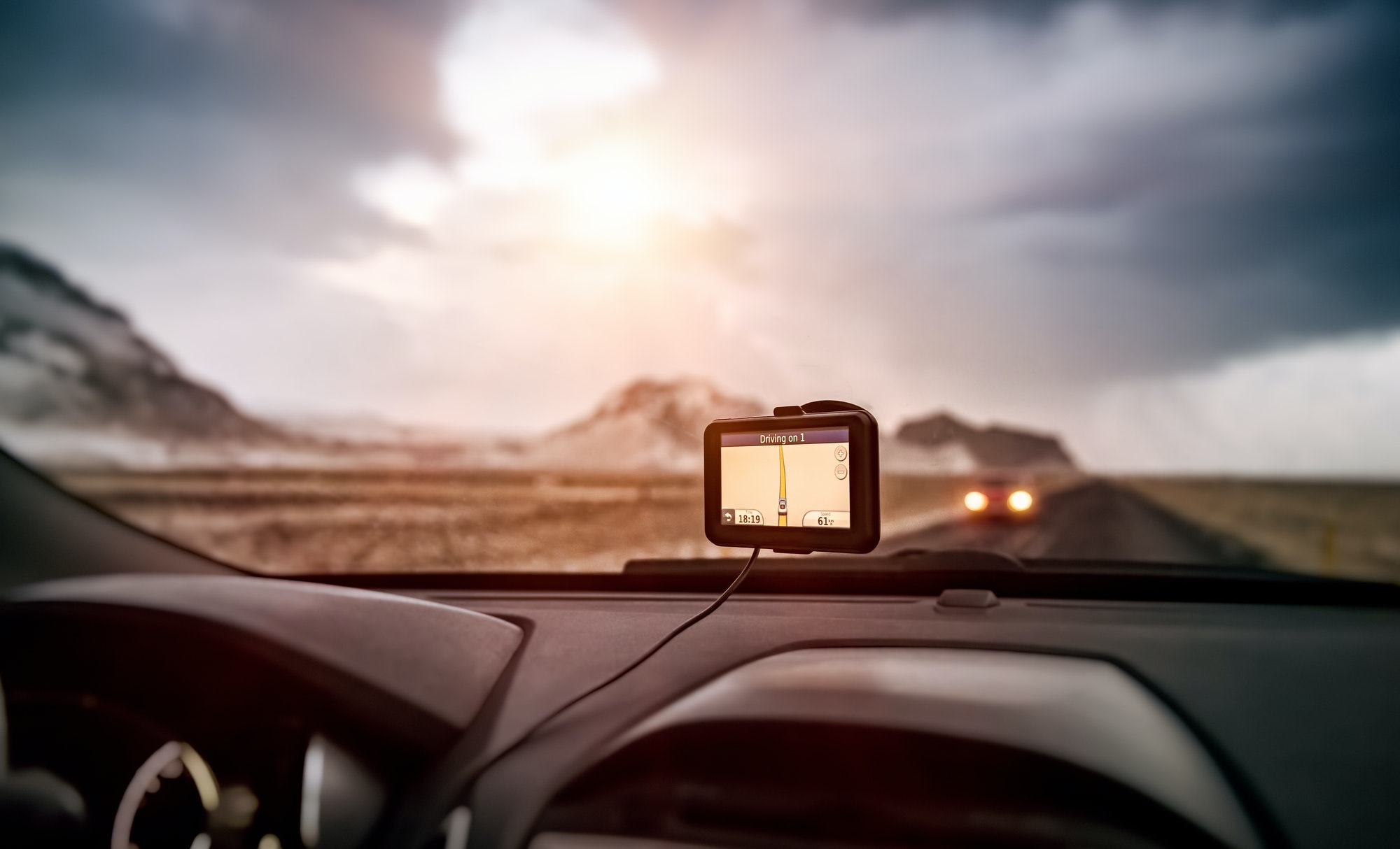 GPS navigator in the car
