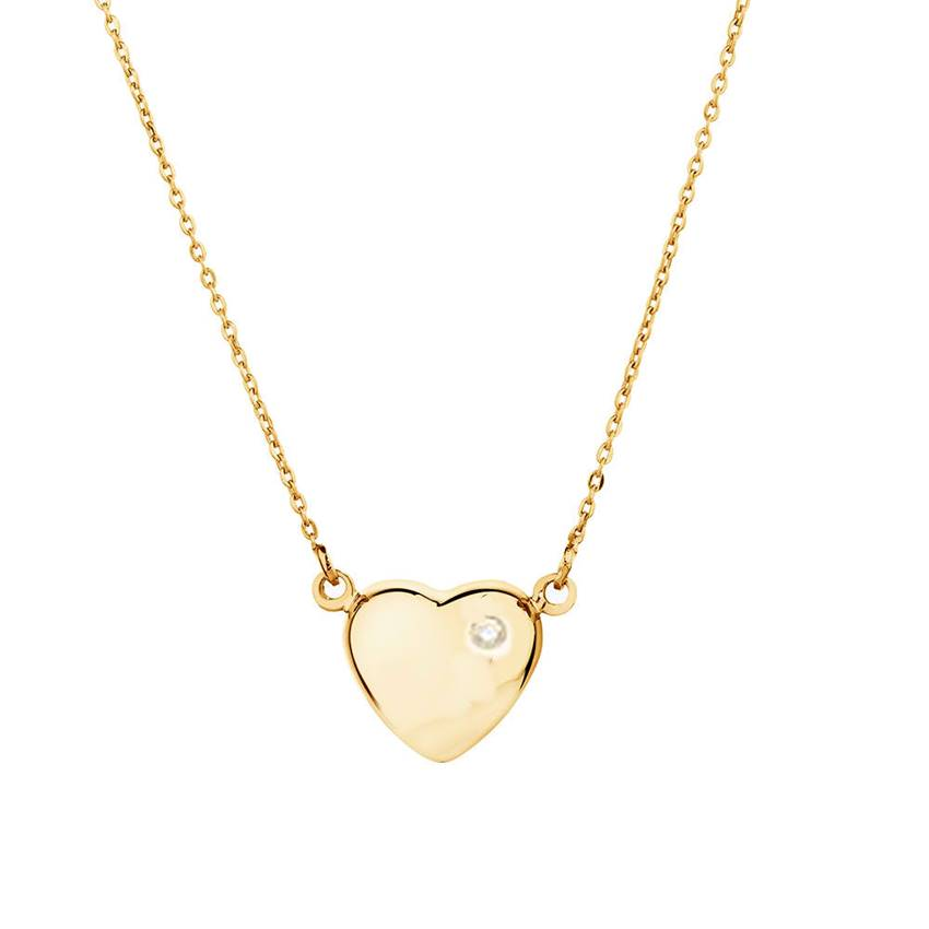 Win a Stunning LOVE IN A JEWEL Gold Heart Pendant