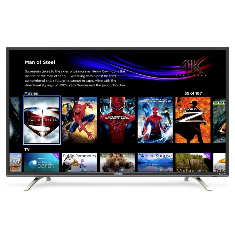 "Win a 4K Ultra HD 55"" Hitachi Roku TV Model 55R7 and more."