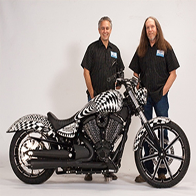 Win 2015 Victory Gunner customized by Arlen Ness and painted by Rick Fairless