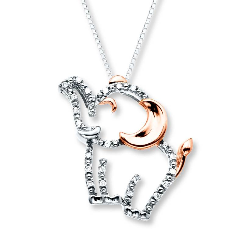 Win a 10K White & Rose Gold Diamond Necklace and Sterling Silver Diamond Earrings