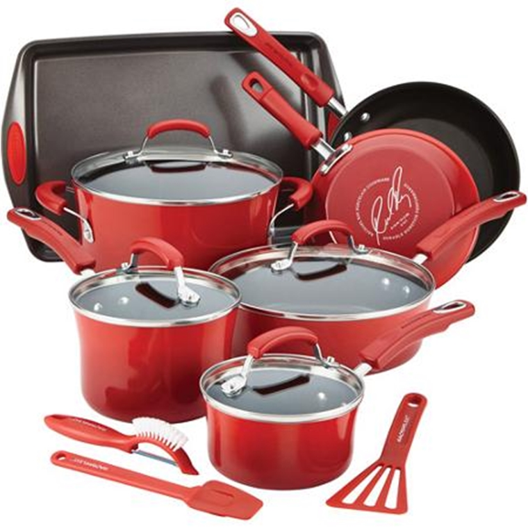 Win a Rachel Ray Hard Enamel Nonstick Cookware Set