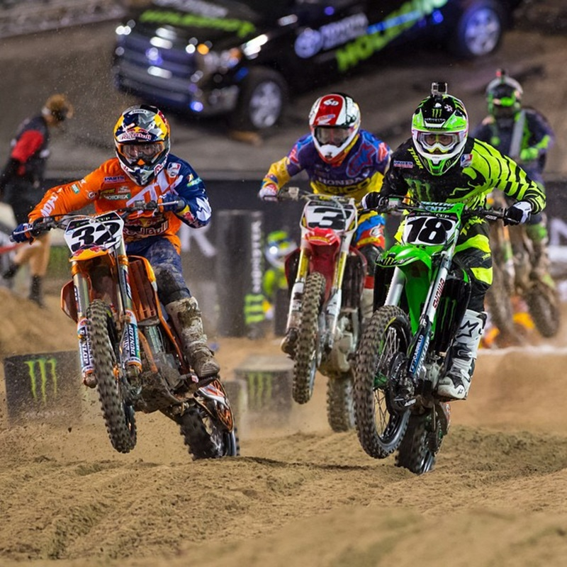 Win a trip for 2 people to the Monster Energy Cup motocross race in Las Vegas