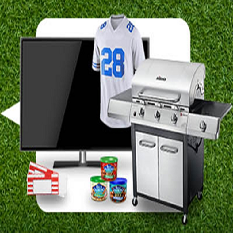 Win an Ultimate Football Party pack which consists of: a 3-Burner Gas Grill, a 60 inch 1080p LED Sma