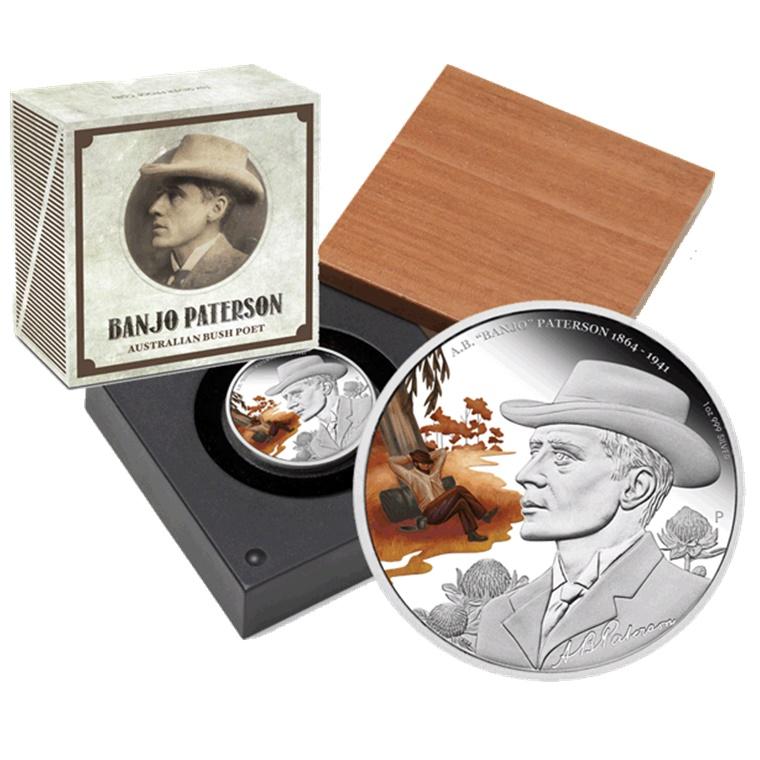 Win A.B. Banjo Patterson Silver Coin