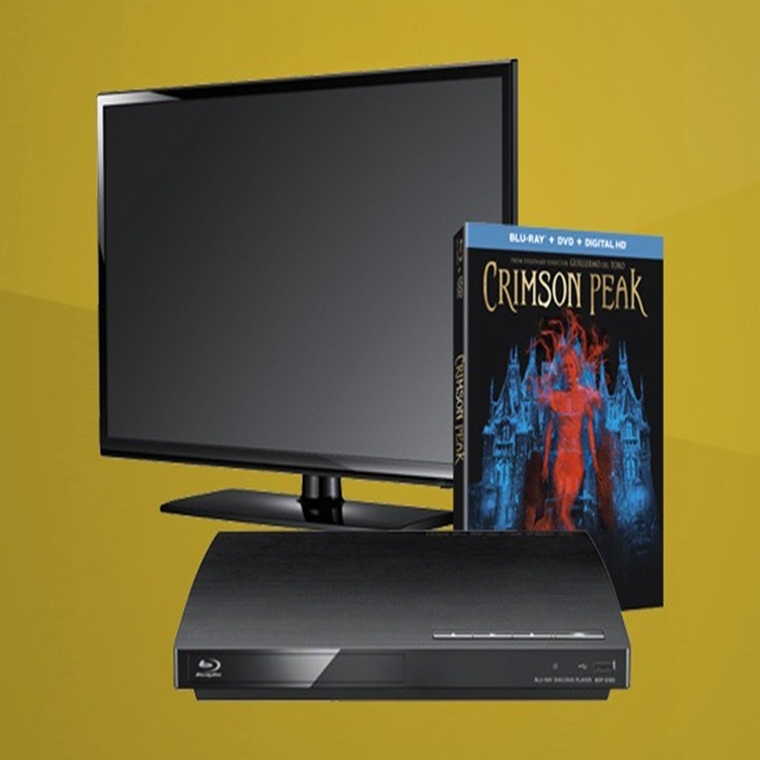 Win CRIMSON PEAK and Flatscreen TV & Blu-ray Player