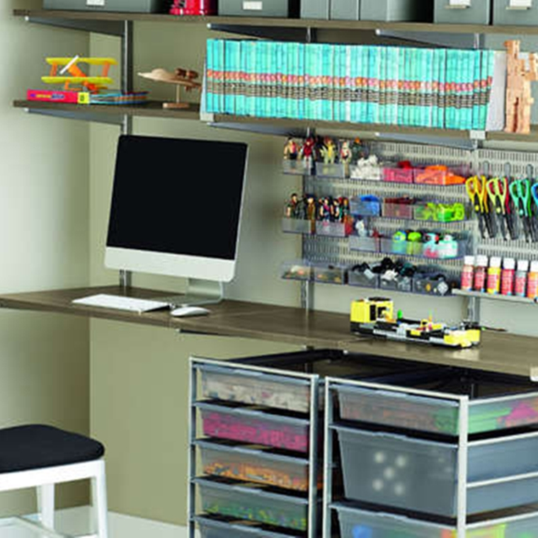 Win one of four elfa Space Makeovers from The Container Store.