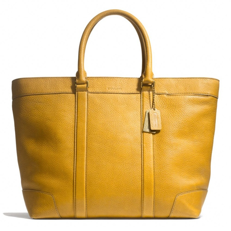 Win a Mustard Coach Tote bag and more.