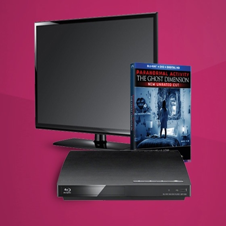 Win a The Ghost Deminsion,Flatscreen TV, and Blu-Ray Player