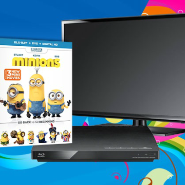 "Win ""Minions"" on Blu-Ray Combo Pack, Plus a Flatscreen TV & Blu-Ray Player!"