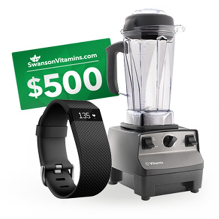 Win Vitamix Professional Series 200 Blender,a Fitbit Charge HR, and a shopping spree to SwansonVitam