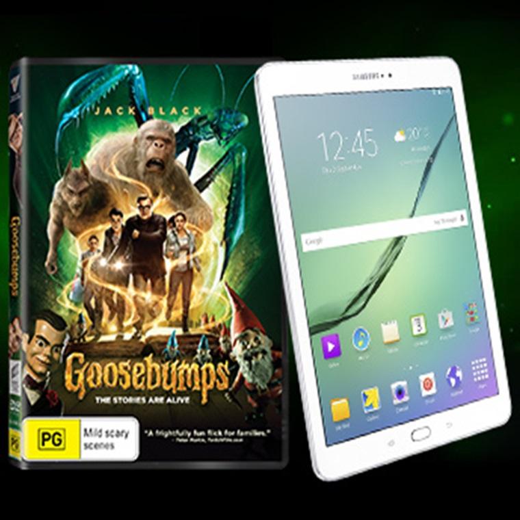 Win A Samsung Galaxy Tab S2 + Goosebumps DVD