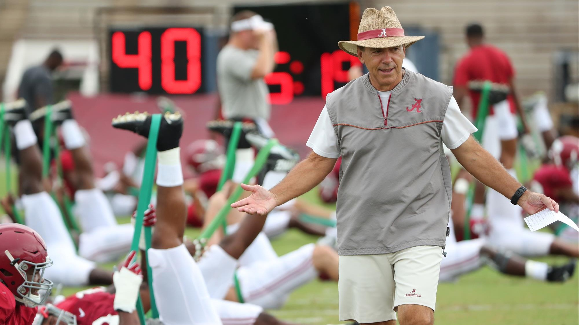 Alabama Football Concludes Day Two of Preparations for Vanderbilt ...