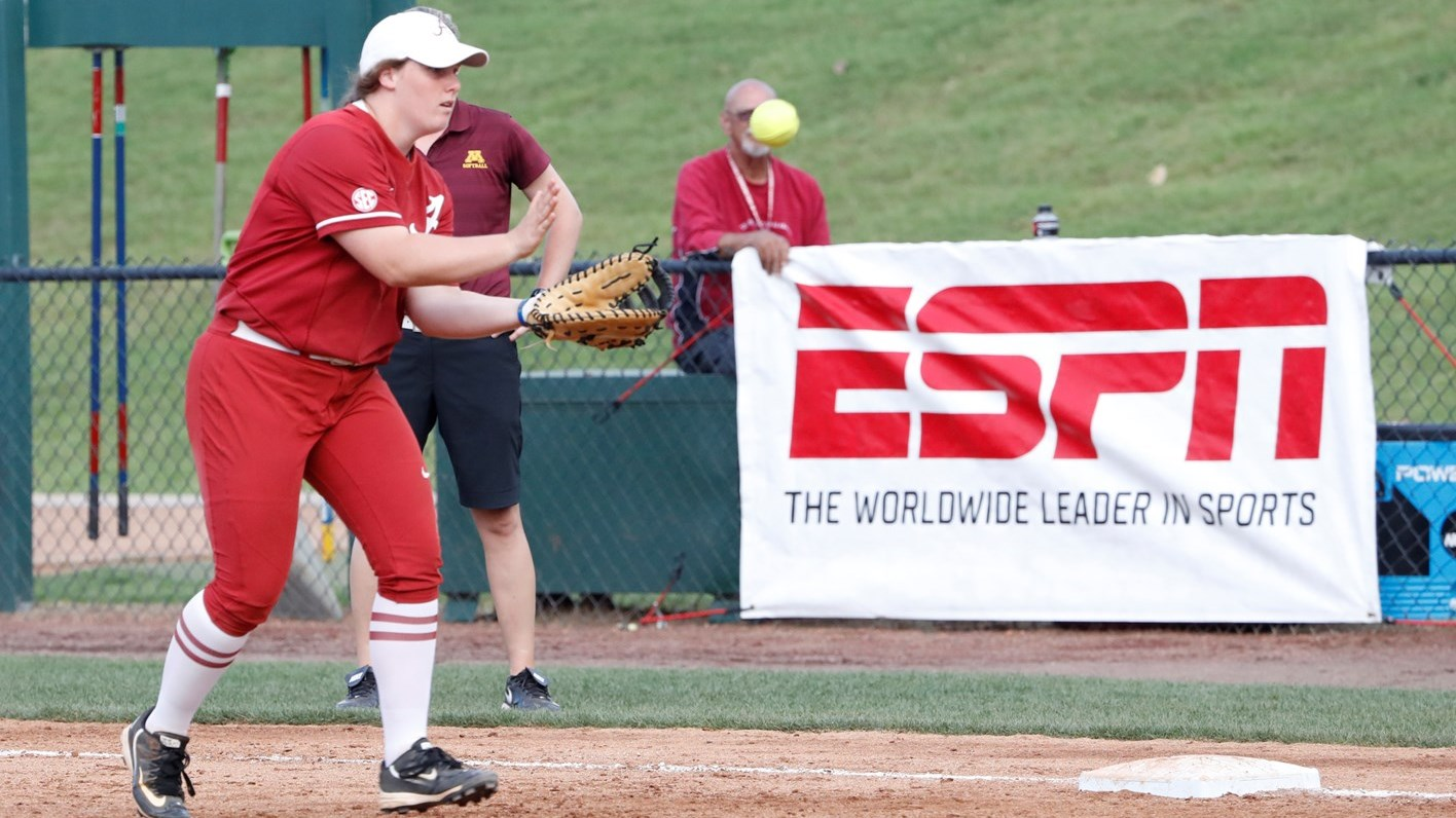 alabama softball scheduled to appear in 13 nationally televised
